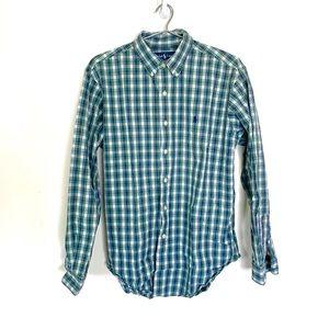 Polo Ralph Lauren Classic Fit Blue Plaid Button up